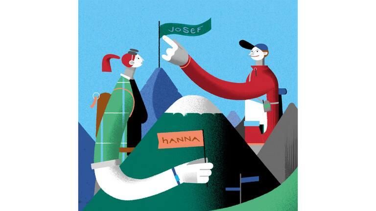 Illustration: Das Benennen von Bergen