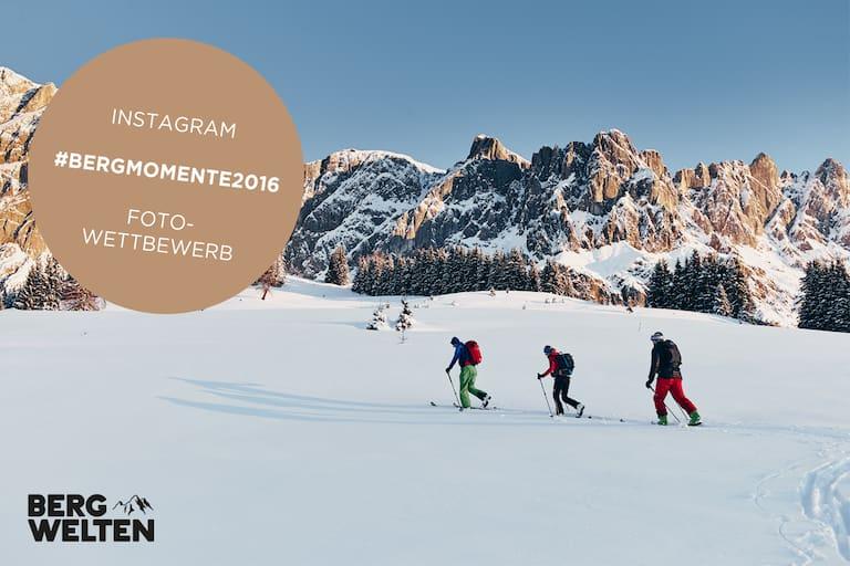 Skitourengeher vor Bergkulisse