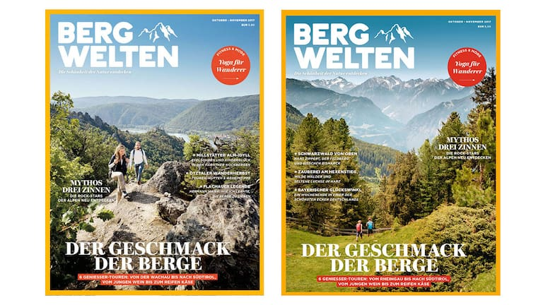 Cover: Bergwelten Österreich und Bergwelten Deutschland (Oktober/November 2017)