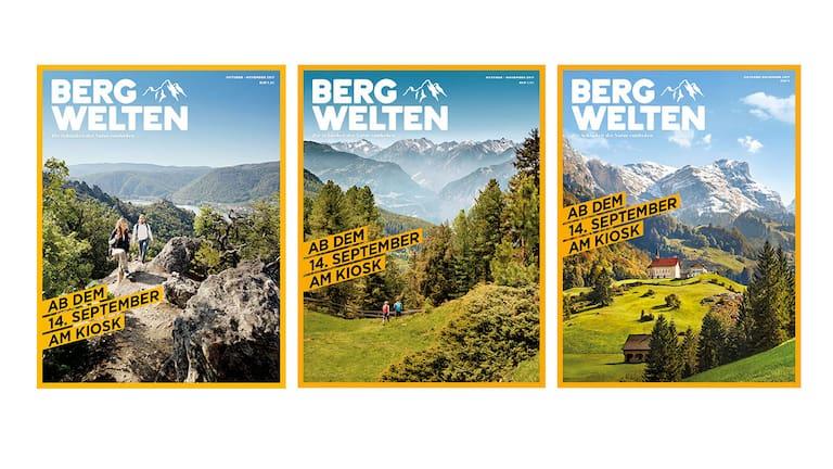 Cover: Bergwelten Magazin (Herbst) – Österreich, Deutschland, Schweiz