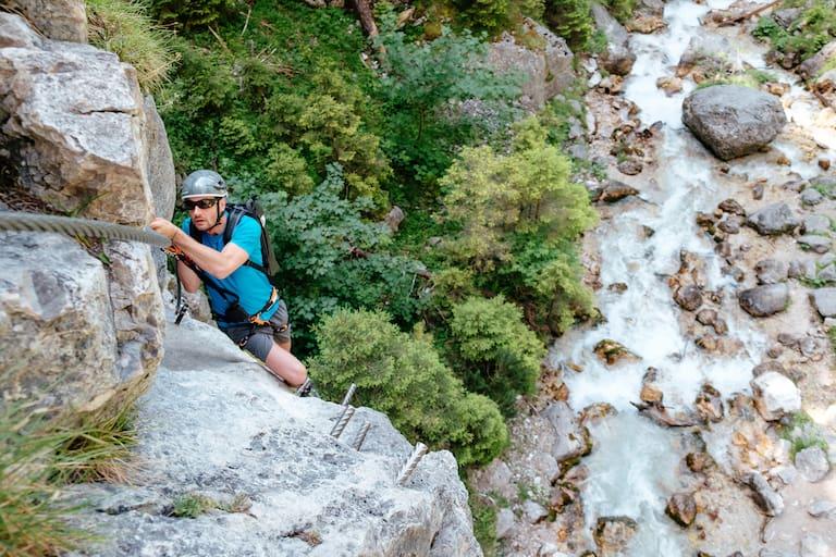 Bergwelten mein erster Klettersteig Ramsau am Dachstein