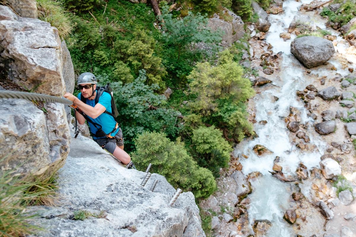 Klettersteig Nauders : Bergwelten event: mein 1. klettersteig am dachstein