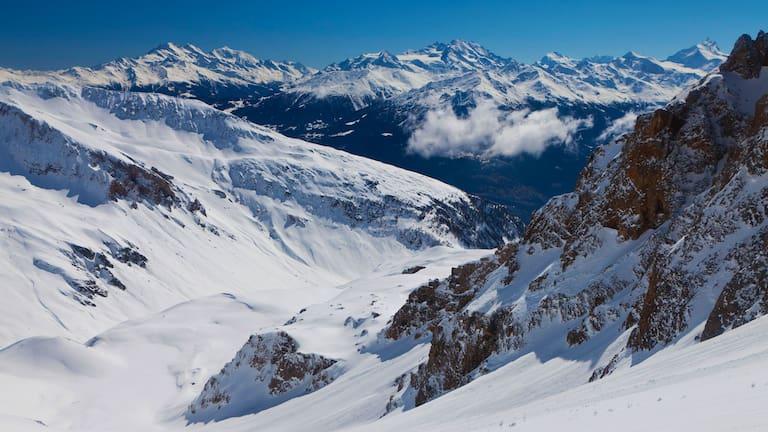 Winterlandschaft bei Leukerbad im Kanton Wallis