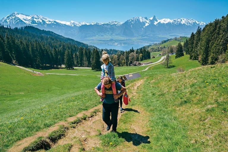 Aufstieg von Heiligenschwendi zur Passhöhe Wolfsgruebe