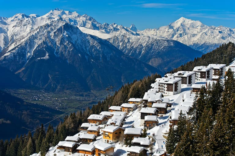 Schweiz im Winter: Bettmeralp in Wallis