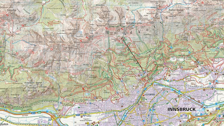 KOMPASS - Karte 36 Innsbruck und Umgebung (1 : 35 000)