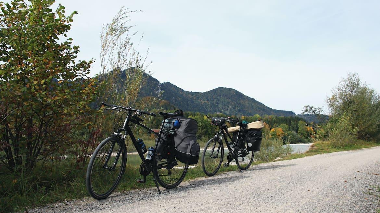 Radfahren entlang der Isar
