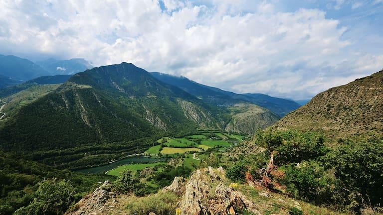 Etappe 15 der Pyrenäen-Durchquerung: Blick ins spanische Vall d'Àneu