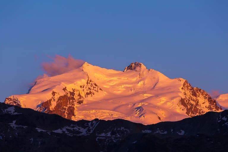 Schweiz: Dufourspitze in den Walliser Alpen