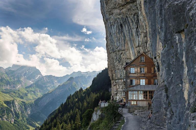 Gasthaus Aescher beim Wildkirchli unterhalb der Ebenalp