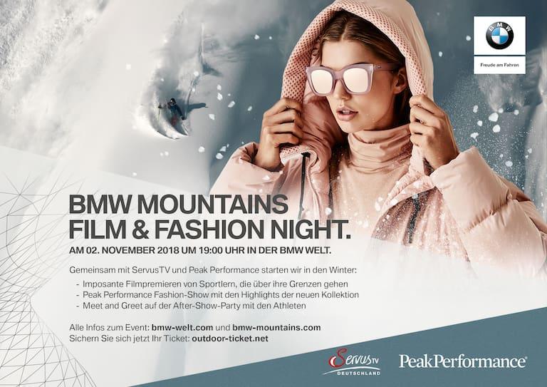 Die BMW Mountains Film und Fashion Night