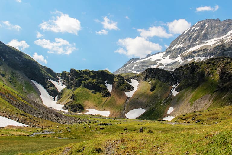 Auf alten Saumpfaden über den Felber Tauern: Am Nassfeld in Osttirol