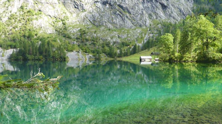 Fischunkelalm in den Berchtesgadener Alpen in Bayern