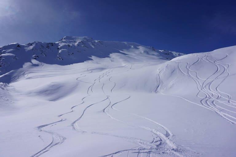 Freeriden im Kaunertal in Tirol