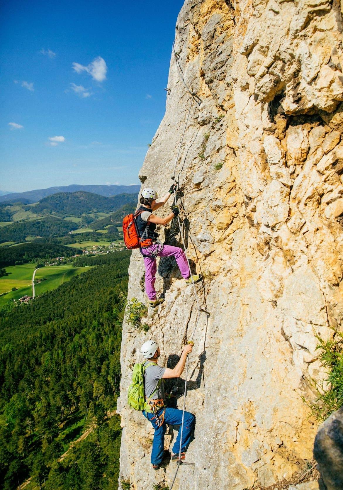 Steile Passagen und eine fantastische Aussicht
