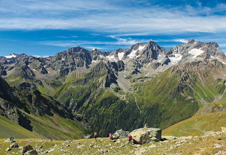 Gipfelkette am Kaunergrat im Pitztal
