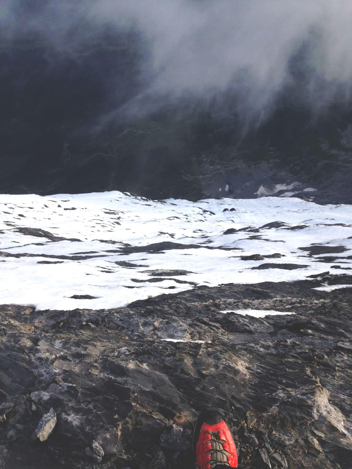 1.800 m Nordwand können entweder ganz viele oder bloß ein einziger Schritt