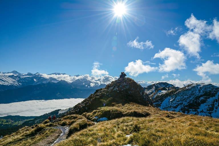 Güggisgrat: Niederhorn in der Schweiz