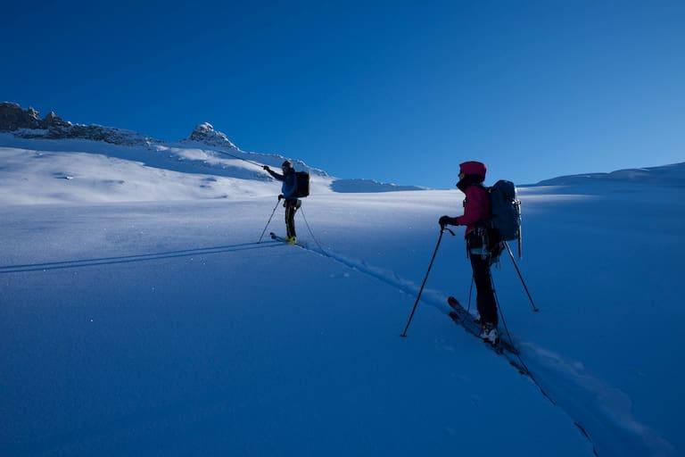 Skihochtour am Großvenediger: Stock und Tape, beides essentiell