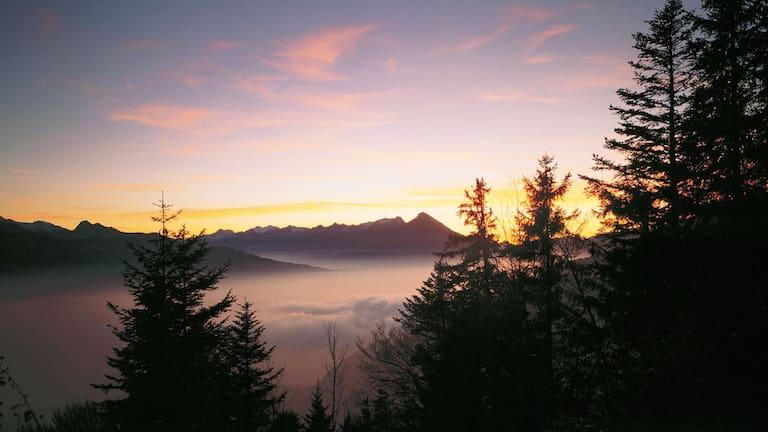 Harder Kulm-Rundweg in den Emmentaler Alpen im Kanton Bern