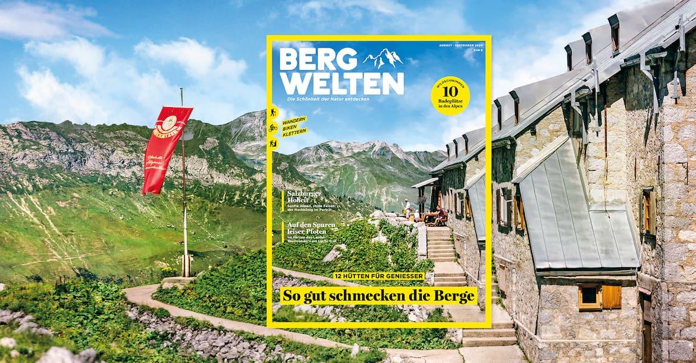 Jetzt überall im Zeitschriftenhandel – das aktuelle Bergwelten Magazin (August/September 2020)