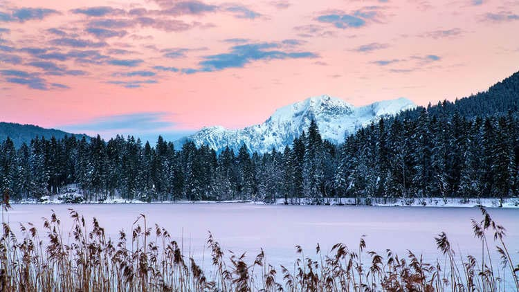Bayern: Hintersee in Ramsau im Berchtesgadener Land