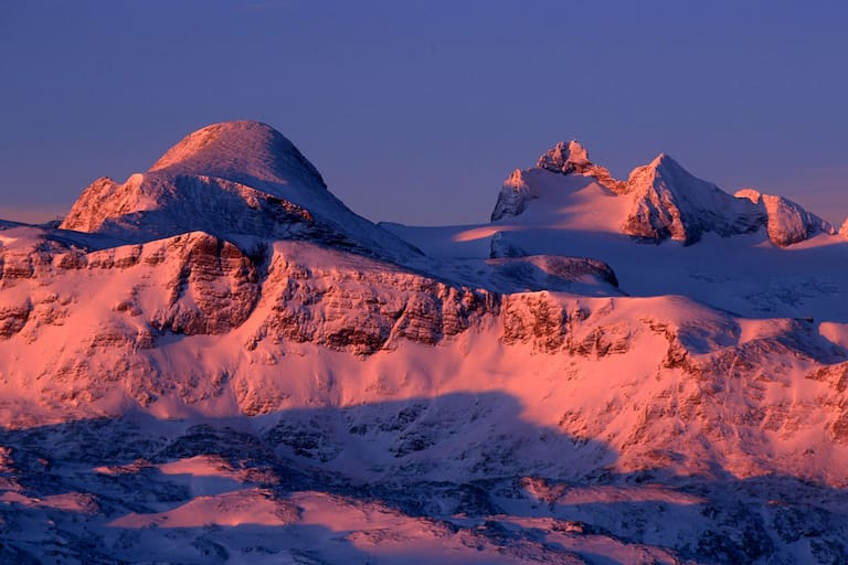 Sonnenaufgang: Hoher Gjaidstein und Dachstein