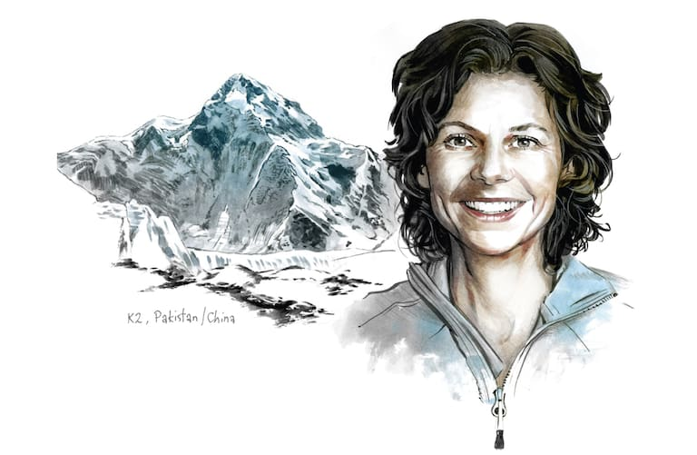 Gerlinde Kaltenbrunner und der K2 (Pakistan/China)