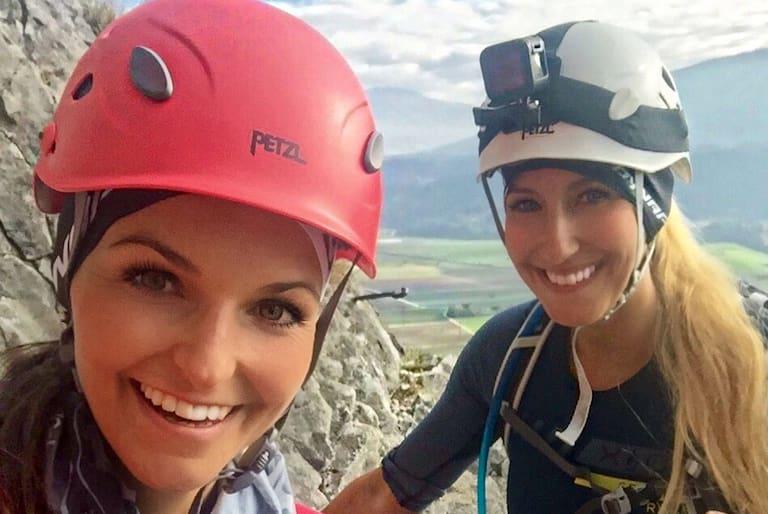 Maggy und Anja Klettersteige