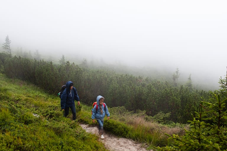Wandern mit Kindern Wetter