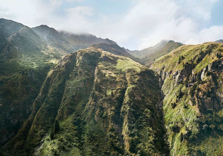 Hochalpine Landschaften die früher Kriegsschauplatz waren