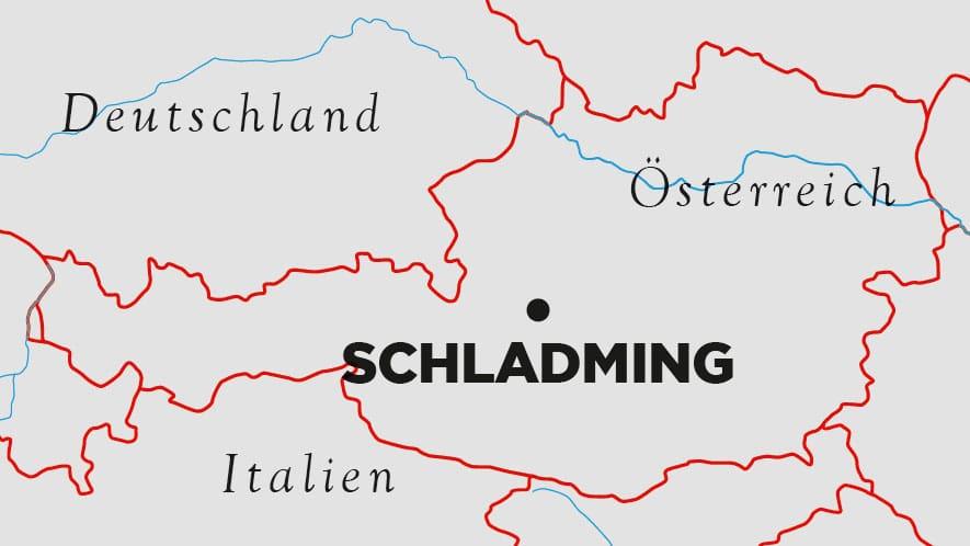 Karte: Schladming in der Steiermark