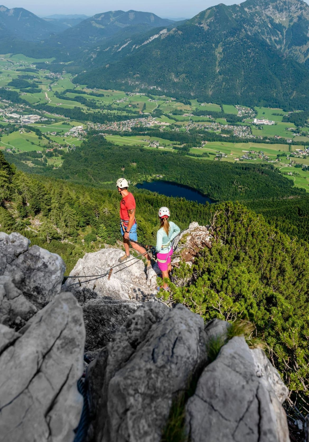 Blick vom Katrin-Klettersteig auf den Nussensee