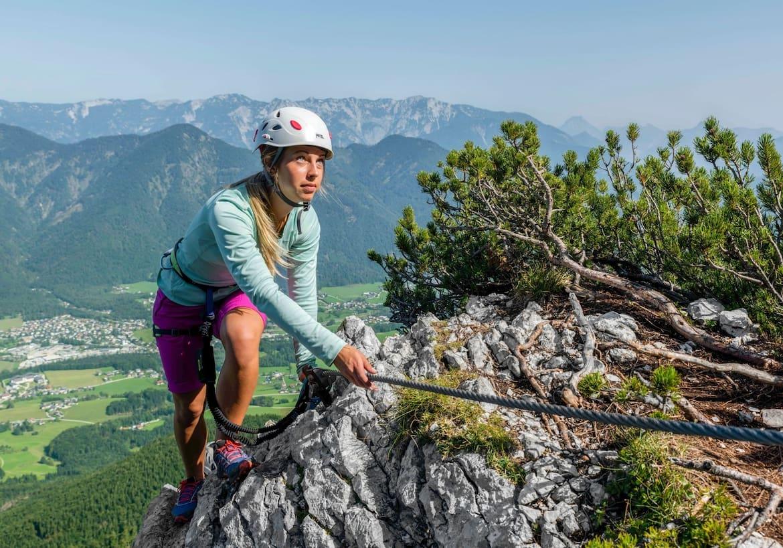 Der Klettersteig bietet ein durchgehendes Panorama.
