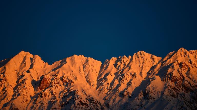 Kemacher im Karwendel: Blick auf die Nordkette bei Innsbruck in Tirol
