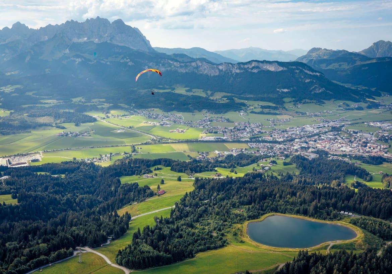 Blick auf die Kitzbüheler Alpen von oben