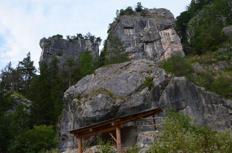 Im Klettergarten Kanzianiberg in den Karawanken in Kärnten