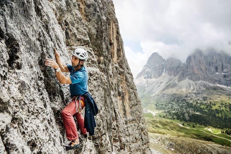 Alpinklettern am Sellajoch, Südtirol