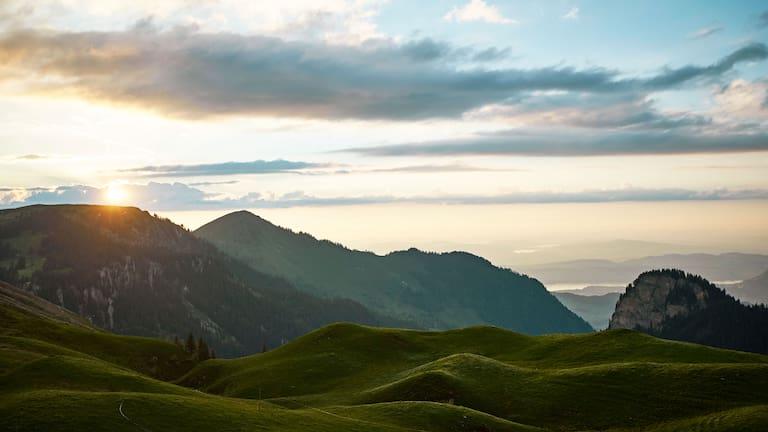 Klewenalp am Vierwaldstättersee in der Schweiz