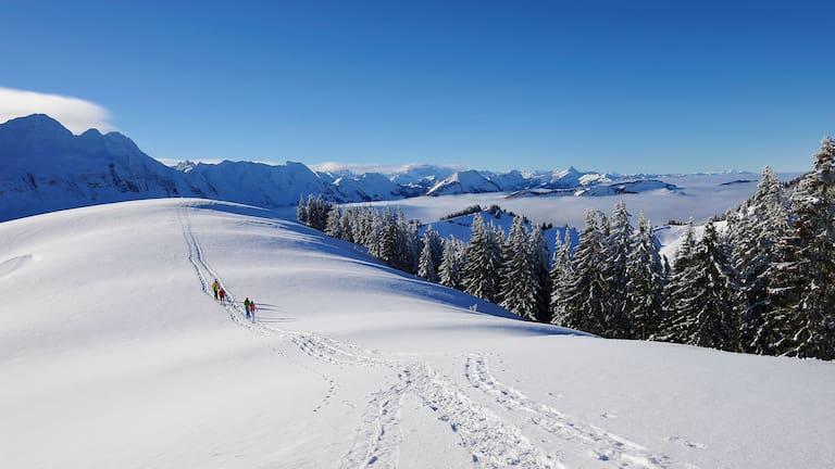 Winterwanderung zum Kronberg im Kanton Appenzell-Innerrhoden
