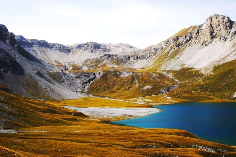 Der Bergsee Lai da Rims in der Ortlergruppe in Graubünden