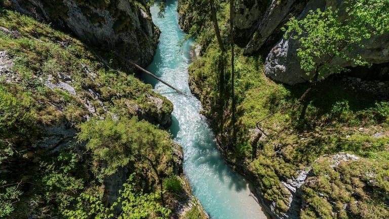 Leutaschklamm zwischen Bayern und Tirol