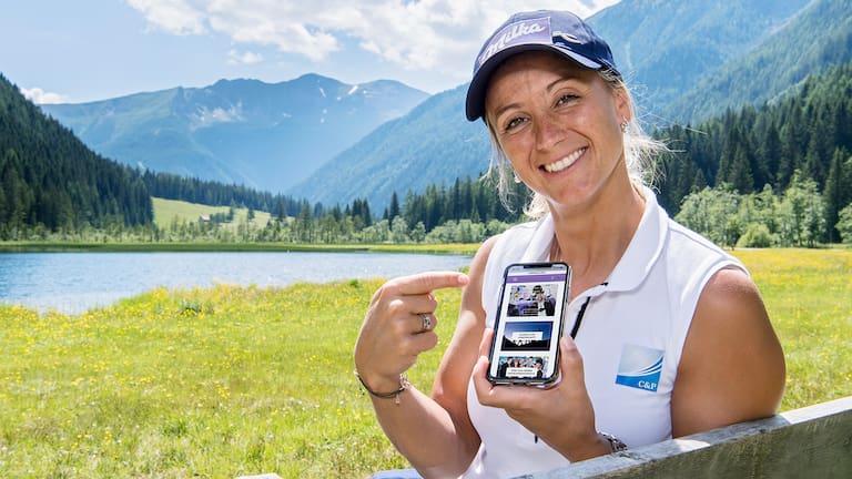 """Unterstützt wird die """"Lila liebt Grün"""" Initiative unter anderem auch von der ehemaligen Skirennläuferin Michaela Kirchgasser."""