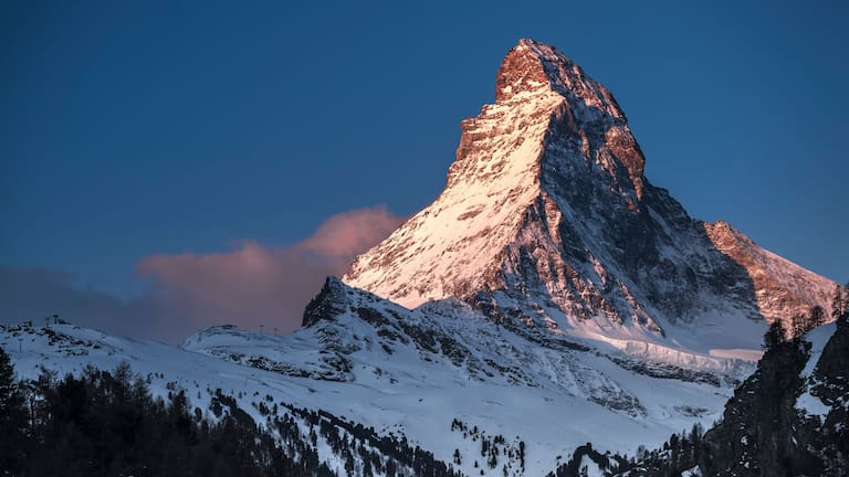 Matterhorn in den Walliser Alpen