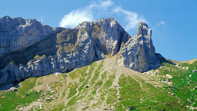 Blick vom Matthorn zum Pilatus in der Schweiz