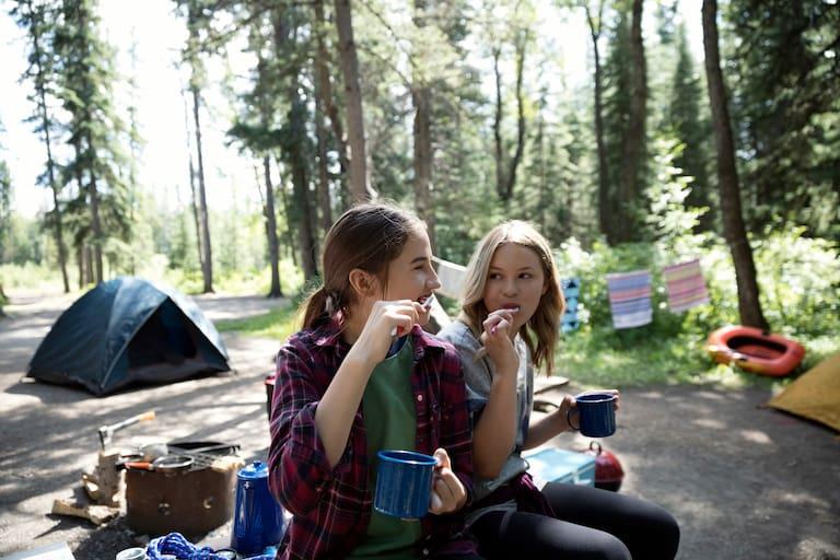 Zähneputzen Camping