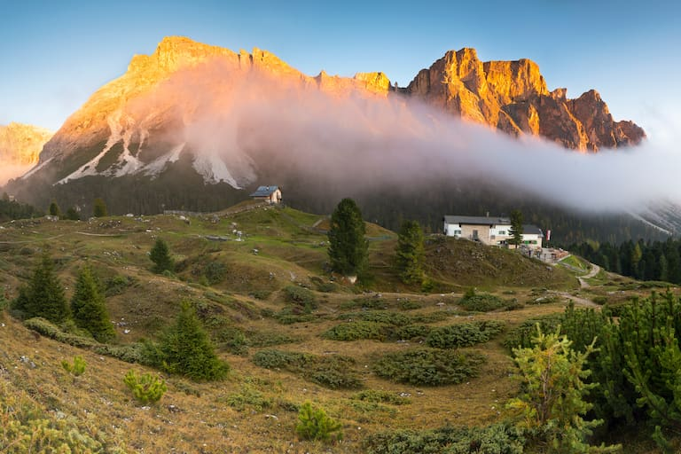 Die Regensburger Hütte in den Dolomiten