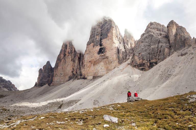 Die Drei Zinnen in den Sextner Dolomiten (Südtirol)