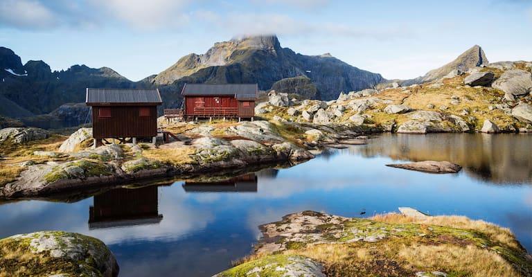 Campen und Klettern auf den Lofoten Norwegen