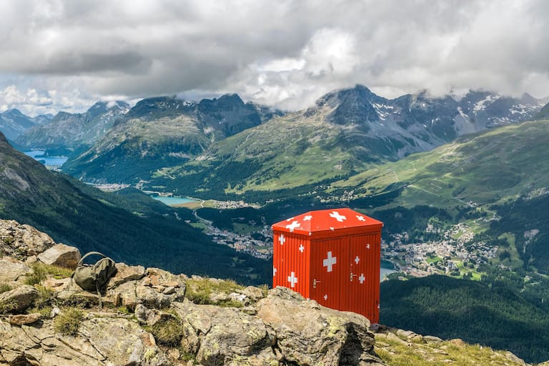 Segantini Hütte Toilette